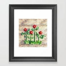 Pepper flowers Framed Art Print