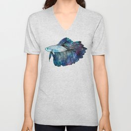 Betta Fish Galaxy Unisex V-Neck