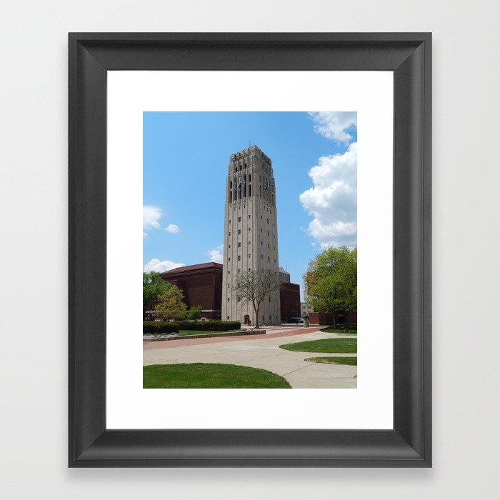 Ann Arbor Michigan Clock Tower Framed Art Print