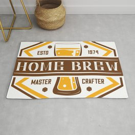 D20 Home Brew Content Creator Beer Label Rug