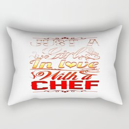 In love with a Chef Rectangular Pillow