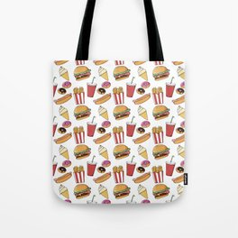Fast Food Pattern Tote Bag