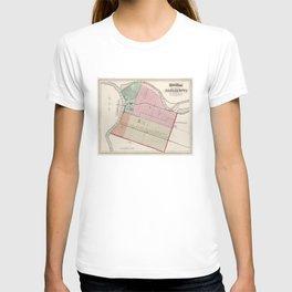 Vintage Map of Sacramento CA (1873) T-shirt