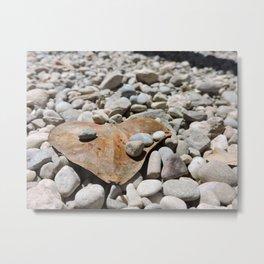 Heart Shaped Leaf Metal Print