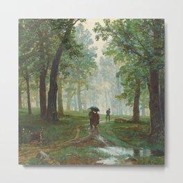 "Ivan Shishkin ""Rain in the oak forest"" Metal Print"