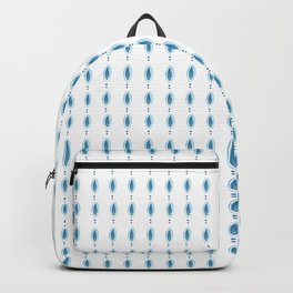 Blue Jewel Hand Painted Pattern Backpack