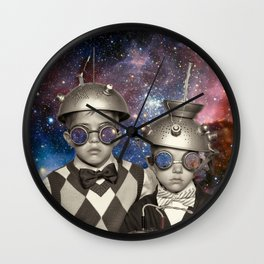 Astronauts in Space Wall Clock