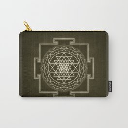 Sri Yantra XI monochrome Carry-All Pouch