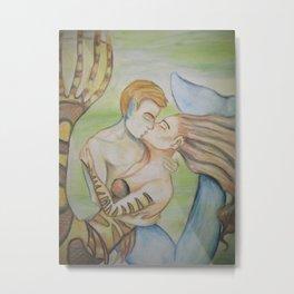 Mermaid Kiss Metal Print