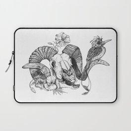 The ramskull and bird Laptop Sleeve