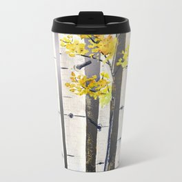 Birch Tree Metal Travel Mug