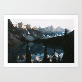 Moraine Lake Sunset Art Print