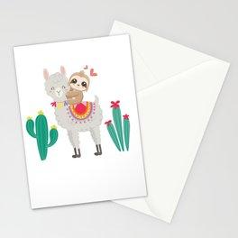 Cute Sloth And Llama Stationery Cards