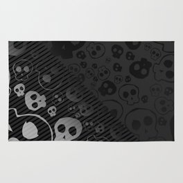 Skull Black Rug
