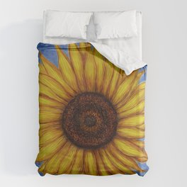 Sunflower by Lars Furtwaengler | Ink Pen | 2011 Duvet Cover
