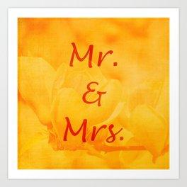 Mr. and Mrs. Art Print
