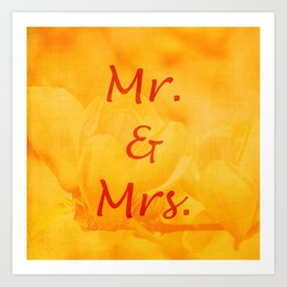 Mr. and Mrs. Art Print