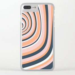 Summer Color swirl Clear iPhone Case