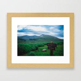 Mt. Bierstadt 'First Step' Framed Art Print