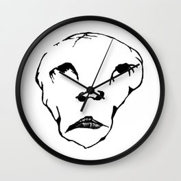 Evil sad monkey man Wall Clock