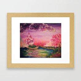 She Lives in a Fairy Tale Framed Art Print