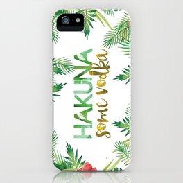 Hakuna iPhone Case