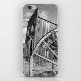 Ghost Town Bodie Wagon Wheel Eastern California iPhone Skin