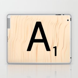 Letter A Scrabble Art Laptop & iPad Skin