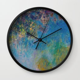 Wisteria by Claude Monet Wall Clock
