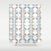 lizard Shower Curtains featuring Lizard by Iratxe González