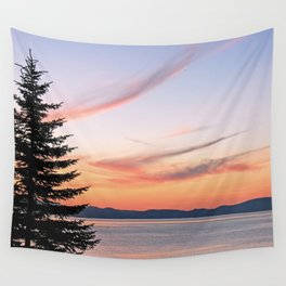 Tahoe Sunset Wall Tapestry