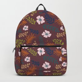Fall In Tropic - granate background Backpack