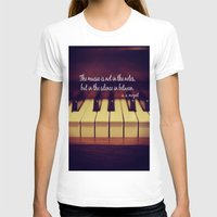 mozart T-shirts featuring Mozart Music by KimberosePhotography