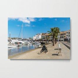 Mahon harbor and paseo maritimo - Mahon, Menorca, Balearic islands, Spain Metal Print