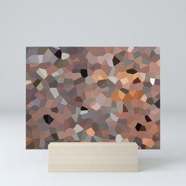 Warm Red Brick, abstract art Mini Art Print
