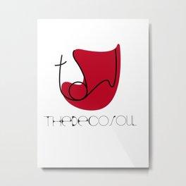 The Deco Soul Metal Print