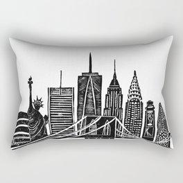 Linocut New York Rectangular Pillow