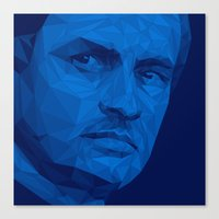 chelsea fc Canvas Prints featuring Jose Mourinho / Chelsea FC – Poly by Riccardo Anelli