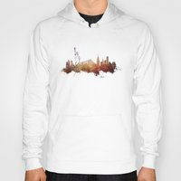 new york skyline Hoodies featuring New York City - skyline by jbjart