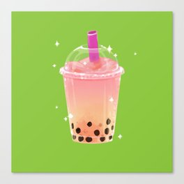 Frozen Boba Tea Canvas Print