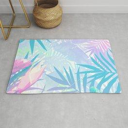 Pastel Rainbow Tropical Paradise Design Rug