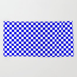 Checker (Blue/White) Beach Towel