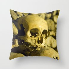 Wall of Bones Throw Pillow