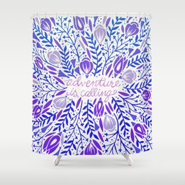 Adventure is Calling – Purple & Periwinkle Palette Shower Curtain