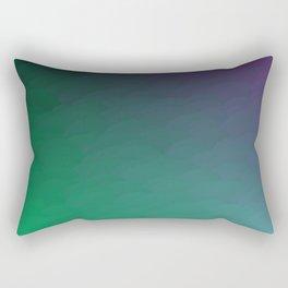 Peacock Green purple blue black ombre waves Rectangular Pillow