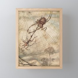 Arthur Rackham - Aesop's Fables: The Gnat and the Lion Framed Mini Art Print