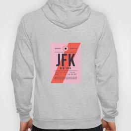 Baggage Tag E - JFK New York John F. Kennedy USA Hoody
