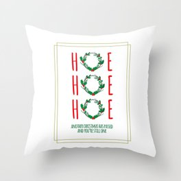 Special Christmas Message Throw Pillow