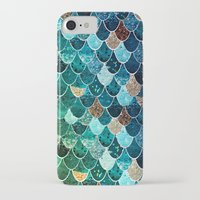 tiffany iPhone & iPod Cases featuring REALLY MERMAID TIFFANY by Monika Strigel