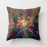 chaos Throw Pillows featuring Chaos by lillianhibiscus
